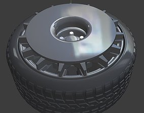 OZ Turbofan Wheel with cover and Tires 3D printable model