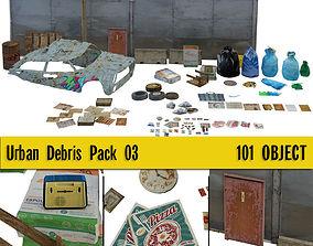 3D asset Urban Debris Pack 03