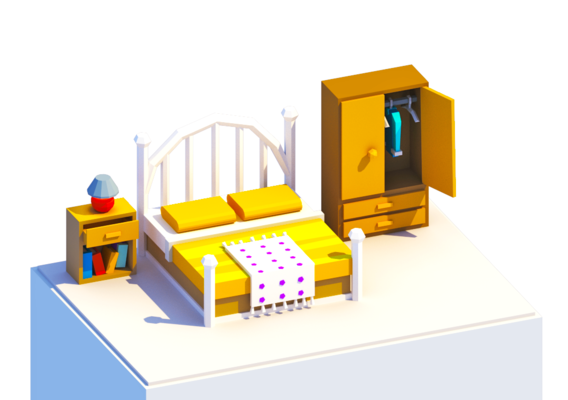 Low Poly Bedroom