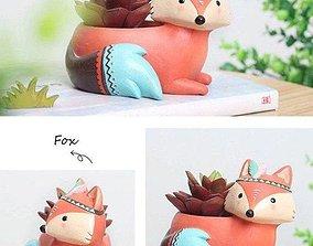 vela Fox pot planter 3d model stl for 3d printing