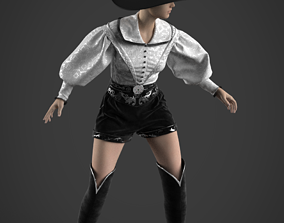 Historical female costume 3D top