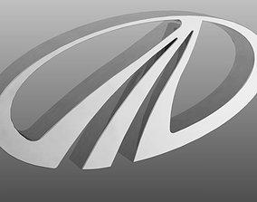 3D Mahindra Logo solid
