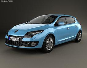 3D Renault Megane 5-door hatchback 2013