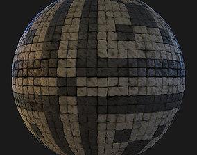 Ornated pavement texture 3D model