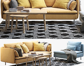 IKEA SODERHAMN Three-seat sofa and One-seat section 3D