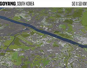Goyang South Korea 50x50km 3D