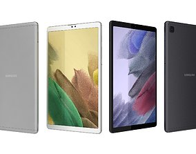 Samsung Galaxy Tab A7 Lite Gray And Silver 3D model