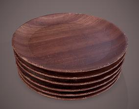 3D model Medieval Tavern Wooden Plate