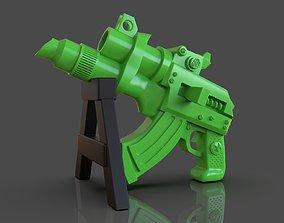 Stylized Sci-Fi Pistol Sculpture 3D printable model