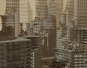 Apocalyptic City 3D asset