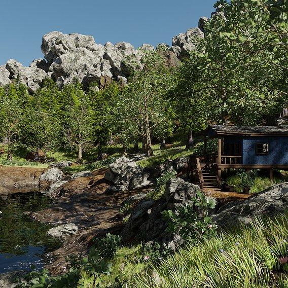 Cabin Scene #64