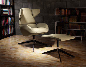 Modern Armchair and Footrest 3D model