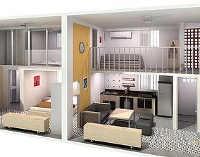 Double Compact Apartment 3D