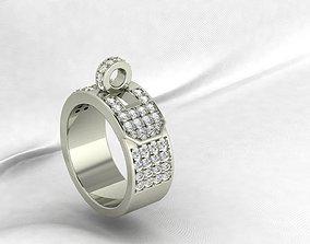 Hermes Diamond ring 3D printable model