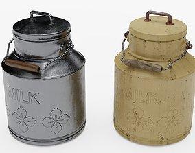 Milk Can 3D asset low-poly