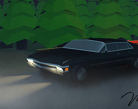 Low poly Chevrolet Impala 1967 3D print model