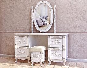 3D dresser with mirror