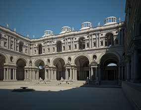 3D Courtyard of an Ancient Temple I