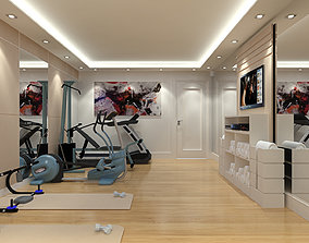 3D Sketchup Fitness Room