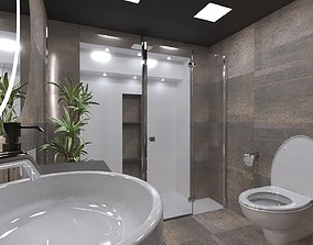 ocean 3D model Bathroom