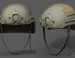 3D asset Helmet military combat fantasy scifi