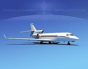 Dassault Falcon 7X V11 3D model