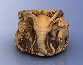 Elephant Ring Africa Savannah 3D print model