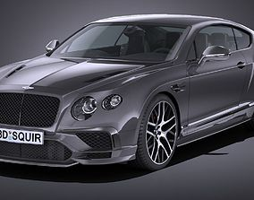 3D asset Lowpoly Bentley Continental Supersports 2018