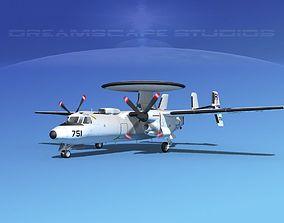 3D Grumman E-2C Hawkeye V13