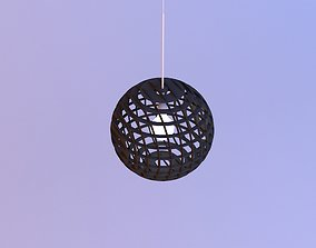 Plywood pendant lamp 3D model
