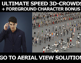 3d crowds and Prime A Foreground Smart Casual Man Cell