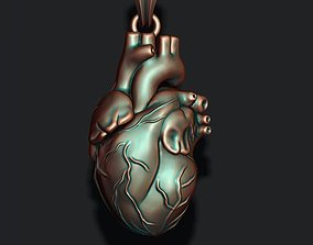 heart pendant human 3D print model