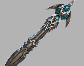 Fantasy sword 23 3d model game-ready