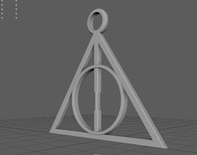 3D printable model The Badge of Deathly Hallows from Harry
