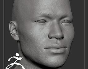 3D Average Asian Male Head Basemesh