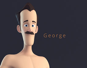 Geroge Stylised Male Cartoon Character 3D model