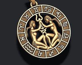 zodiac Gemini The Twins lite 3D printable model