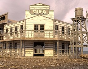 3D asset WILD WEST BUILDING 8
