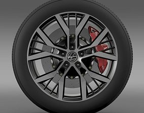 Volkswagen Golf GTI wheel 2 3D model