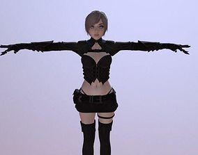 Cindy Furyan - Rigged Character 3D asset