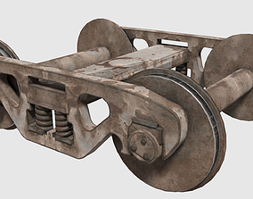 3D asset Railroad Car Truck