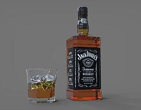 bottle 3D model alcohol
