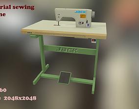 Industrial sewing machine 3D asset
