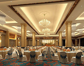 Business Restaurant - Coffee - Banquet 80 3D