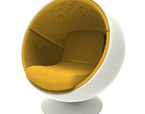 3D model VR / AR ready Ball Chair