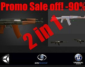 PROMO SALE OFF AK DRACO and AK 74 3D model realtime
