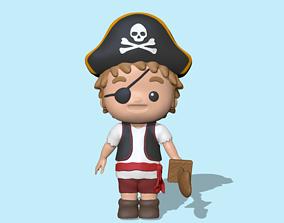 Cute Pirate 3D print model