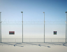 Security Razor Wire Fence 3D model