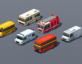 Cartoon Vehicles Low-poly models pack Toon VR / AR ready