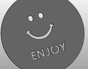 3D print model Coffee Stencil - smile